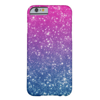 Magenta Ombre Glitter Barely There iPhone 6 Case