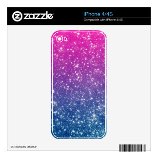 Magenta Ombre Glitter Decal For The iPhone 4