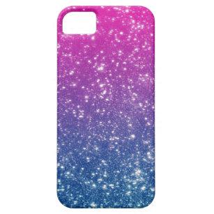 Magenta Ombre Glitter iPhone SE/5/5s Case