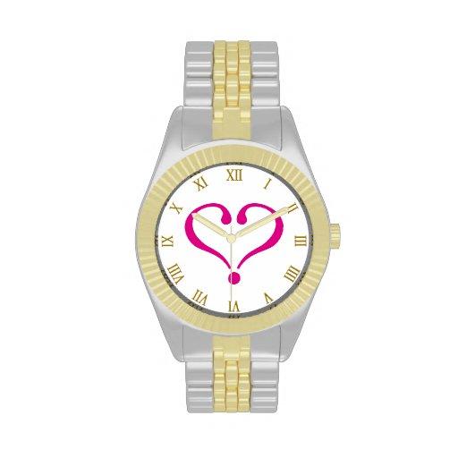 Magenta open heart of love forever in Valentine's Relojes De Mano