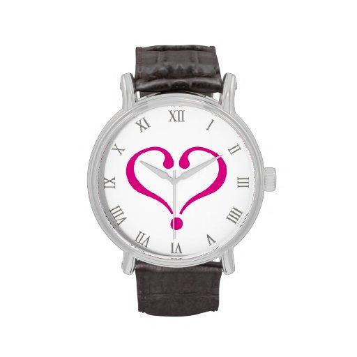 Magenta open heart of love forever in Valentine's Reloj De Mano