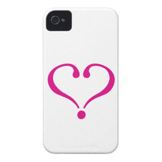 Magenta open heart of love to forever in iPhone 4 Case-Mate case