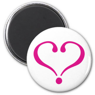 Magenta open heart of love to forever in Valentine Refrigerator Magnet