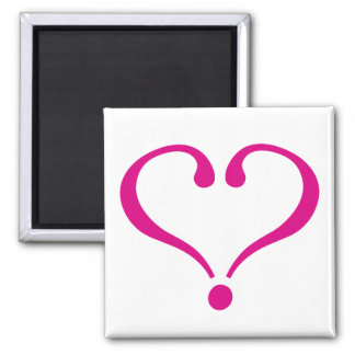 Magenta open heart of love to forever in Valentine Magnets