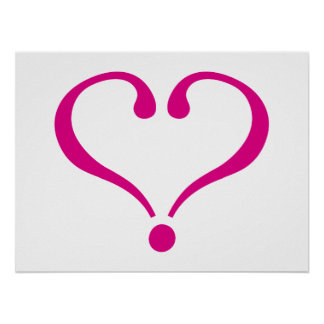 Magenta open heart of love to forever in Valentine Poster