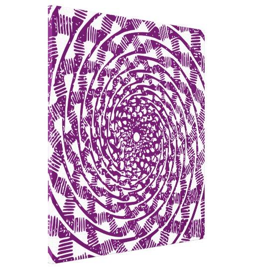 Magenta optical illusion canvas print