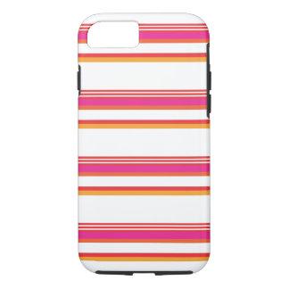Magenta Orange Horizontal Stripe iPhone 7 Case