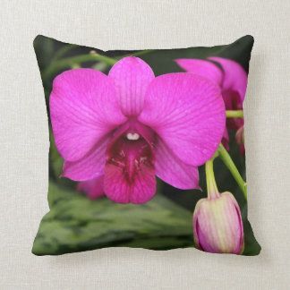 Magenta Orchid Throw Pillow