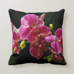 Magenta Orchids in Bloom Pillows