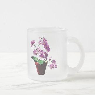 Magenta Orchids in Flowerpot Mug