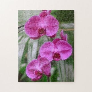 Magenta Orchids Puzzle