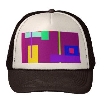 Magenta oscura del diseño mínimo simplista del art gorras de camionero