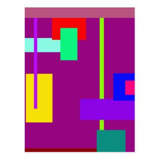 Magenta oscura del diseño mínimo simplista del tarjetas postales
