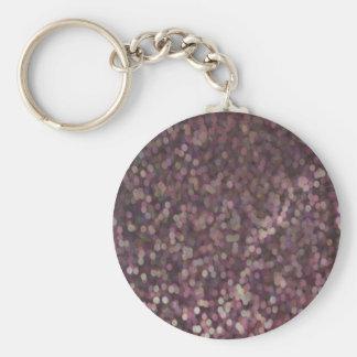 Magenta Painted Glitter Shimmer Keychain