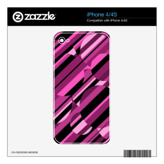 Magenta pattern skins for iPhone 4S