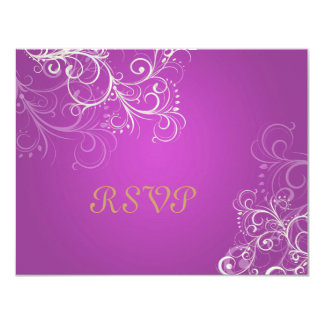Magenta/Pearl swirls RSVPs require 5x7 invitations