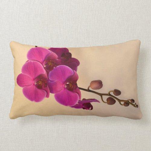 Magenta Phalaenopsis Lumbar Pillow