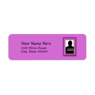 Magenta Photo Frame Template Return Address Label