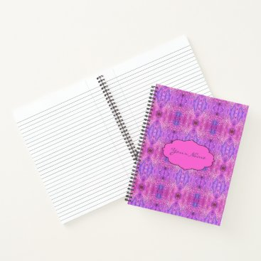 Beach Themed Magenta Pink and Purple Abstract Notebook