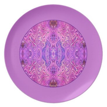 linda_mn Magenta Pink and Purple Abstract Plate