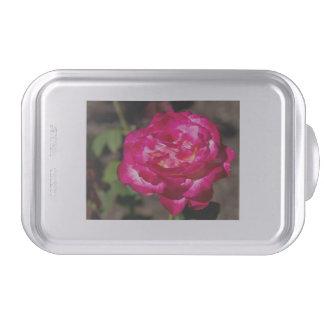 Magenta Pink and White Rose Cake Pan