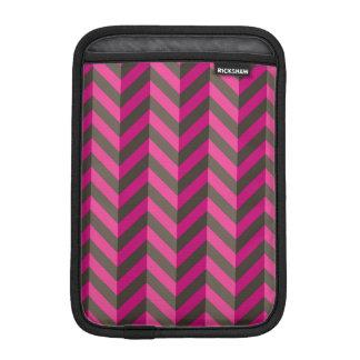 Magenta Pink Brown Zigzag Chevron Pattern iPad Mini Sleeves