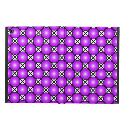 Magenta Pink Dots Black White Lattice Pattern Powis iPad Air 2 Case