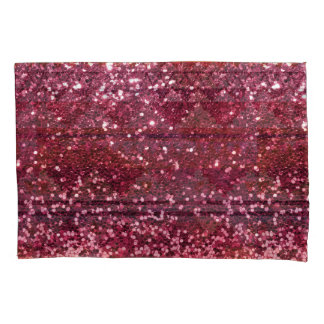 Magenta Pink Faux Glitter All Over Print Pillow Case