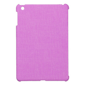 Magenta Pink Faux Linen Fabric Textured Background iPad Mini Case