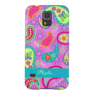 Magenta Pink Modern Paisley Whimsy Pattern Galaxy S5 Case