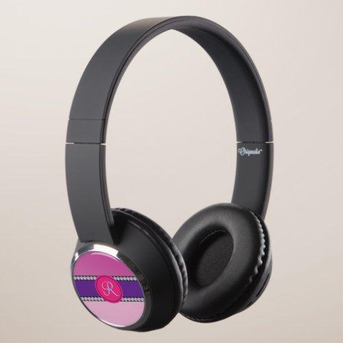 Magenta Pink Monogram Headphones
