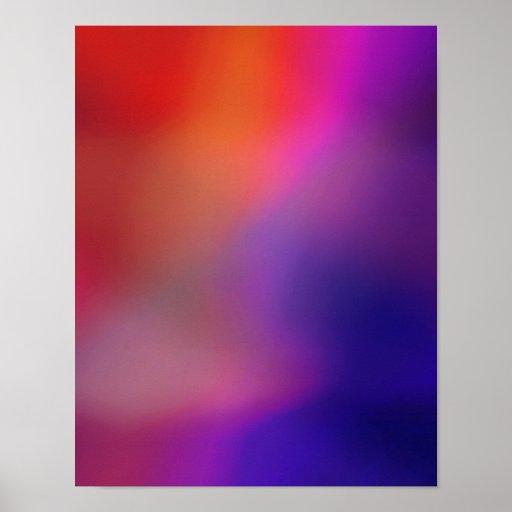Magenta Pink Orange Purple & Red Glow Abstract Poster