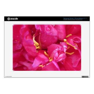 Magenta Pink Peony Petals Samsung Series 5 Skin Samsung Chromebook Skin