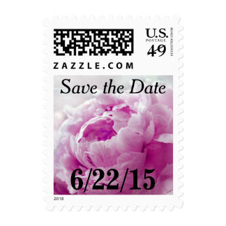 Magenta Pink Peony Save The Date Postage Stamps