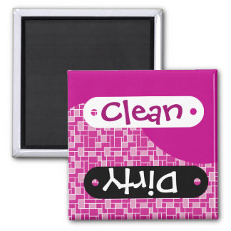 Magenta Pink Purple Clean Dirty Dishwasher Magnets