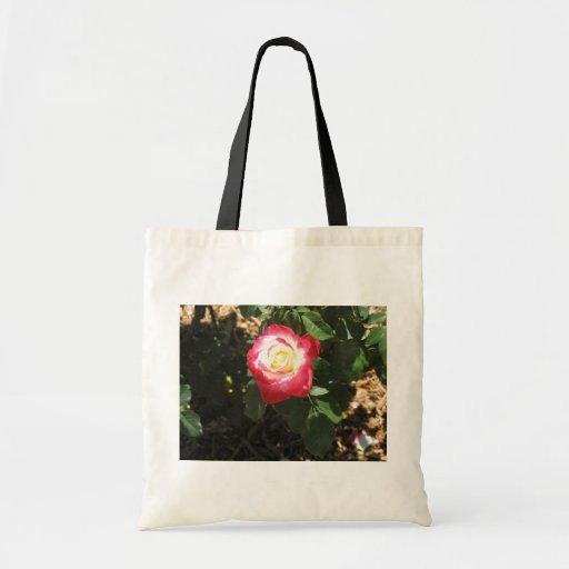 Magenta Pink Rose Bag Budget Tote Bag