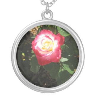 Magenta Pink Rose Necklace
