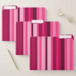 [ Thumbnail: Magenta & Pink Striped Pattern File Folders ]