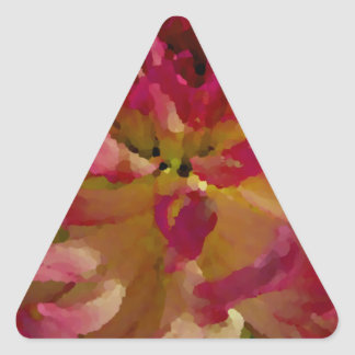 magenta, pinks, and white dahlia triangle sticker