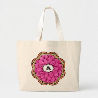 MAGENTA POINSETTIA Design Jumbo Tote Bag