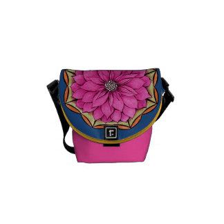 MAGENTA POINSETTIA Design Courier Bags