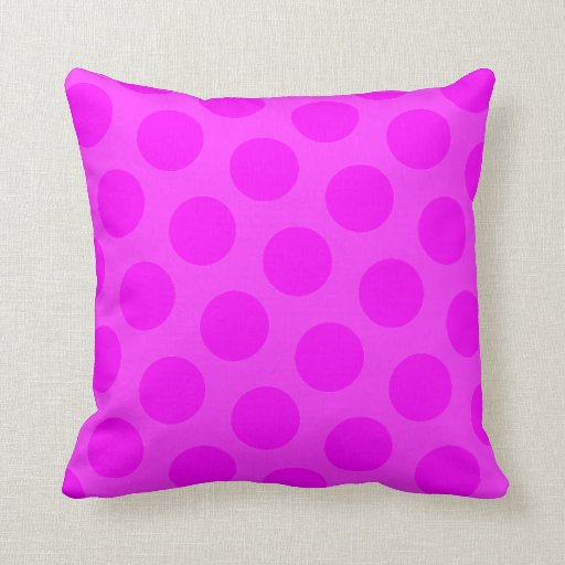 Magenta Polka Dot Pillow