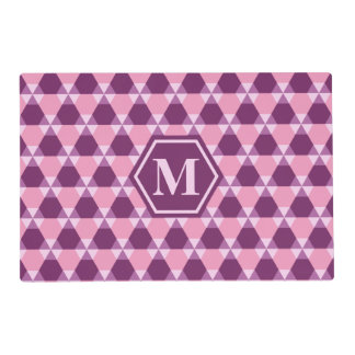 Magenta Purple and Pink Triangle-Hex Placemat