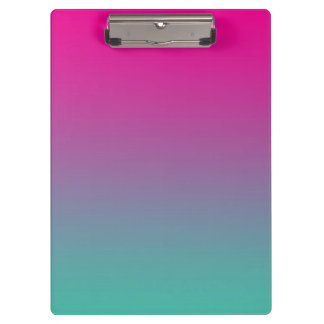 """""""Magenta Purple And Teal Ombre"""" Clipboard"""