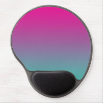 """Magenta Purple And Teal Ombre"" Gel Mouse Pad"