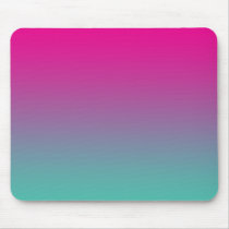 """Magenta Purple And Teal Ombre"" Mouse Pad"