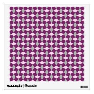 Magenta Purple/Gray/Pink Wavy Pattern Wall Decal