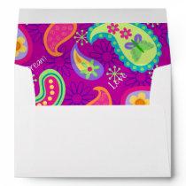 Magenta Purple Modern Paisley Pattern Envelope