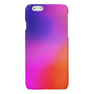 Magenta Purple Pink and Orange Abstract Glow Glossy iPhone 6 Case
