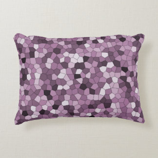 Magenta Purple Pink Pattern Accent Pillow